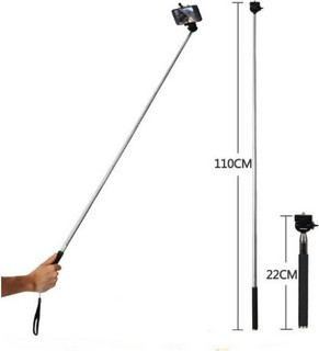 set Selfie Monopod Stick Remote control 2 camera lens