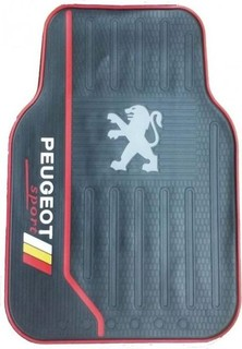 Universal Original Car Floor Mats - 5 Pcs - Peugeot - Black