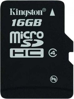 Kingston 16GB Micro SDHC Class 4 Memory Card