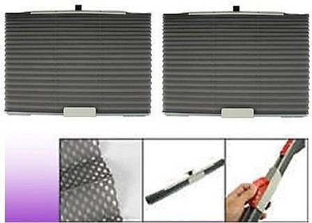 As Seen on TV Auto Folding Sun Shade For Side Window - Grey - 2 Pcs