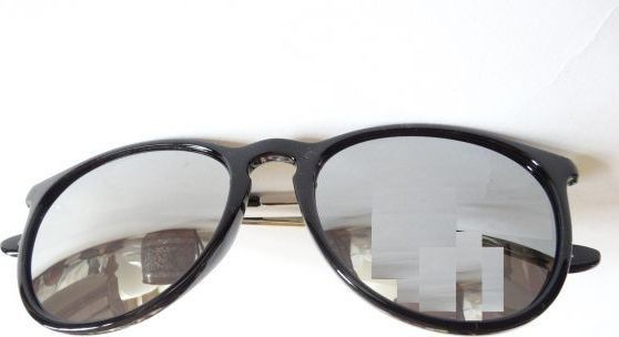 Other Sunglasses black frame with silver metal arm With lenses Mirror Item No 610 - 3