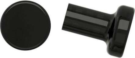 Generic Cabinet & Drawers Plastic Knob - Set of 2 - Black
