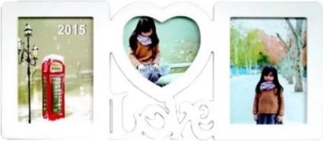 Generic Sweet Love Photo Frame - White