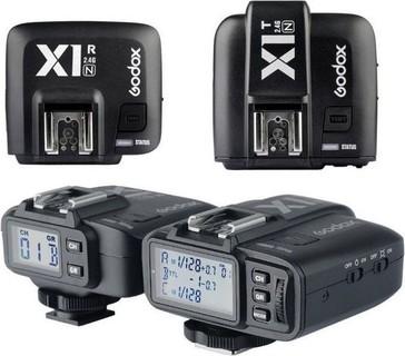 GODOX X1T X1R- N HSS TTL 2.4GHz Wireless Remote Flash Trigger Receiver Shutter Release for Nikon Cameras