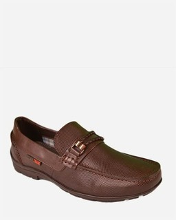 Town Team Casual Slip on Moccasins - Brown
