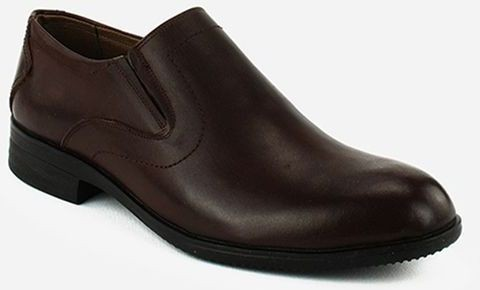 Genuine Classic Leather Shoes - Brown