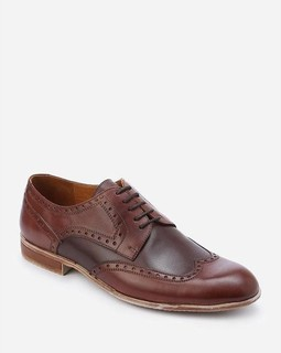 Jubar Leather Wingtip Shoes - Brown