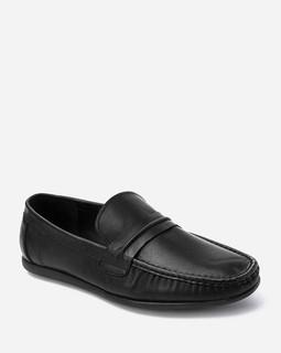 Robert Wood Slip On Casual Shoes - Black