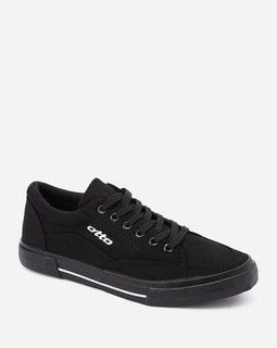 OTTO Lace Up Solid Casual Sneakers - Black