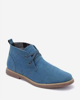 Activ High Top Suede Boot - Teal Blue