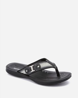 Aero Soft Synthetic Slipper - Black