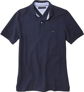 Tommy Hilfiger Blue Cotton Shirt Neck Polo For Men