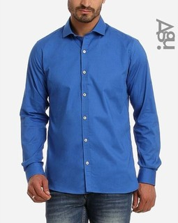 Agu Plain Buttoned Shirt - Royal Blue