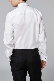 White Bib Fronted Dress Shirt