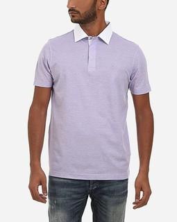 Concrete Turn Down Collar Polo Shirt - Plum