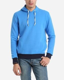 Andora Solid Color Hoodie - Bright Blue
