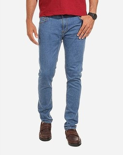 Tie House Solid Skinny Jeans - Light Blue