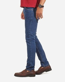 Tie House Solid Skinny Jeans - Navy Blue