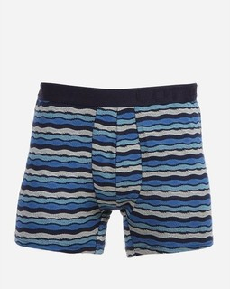 Cottonil Patterned Stretch Boxer - Blue&White