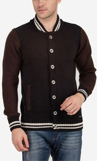 Ravin Bi-Tone Knitted Cardigan - Brown