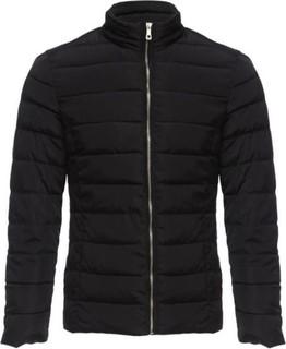 Fashion Men's Solid Color Coat - Black