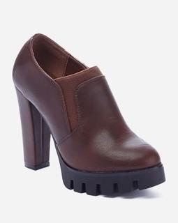 Varna High Heel Leather Pumps - Brown