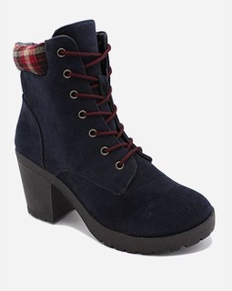 Ravin Chunky Ankle Boot - Navy Blue