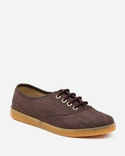 Alia Cut Out Shoes - Brown