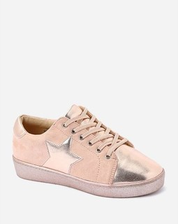 Varna Star Lace Up Sneakers - Dusty Rose