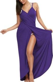 Fashion Beach Long Maxi Dress - Purple