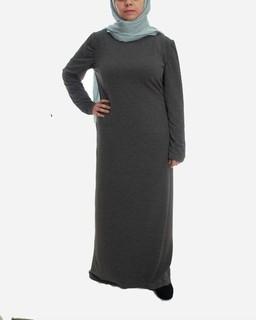 Rehan Basic Maxi Dress - Grey