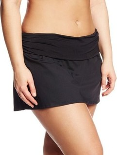 La Blanca Women's Plus-Size Shirred Band Skirted Bikini Bottom