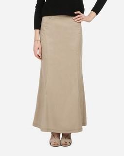 ESLA Long Skirt - Dark Beige