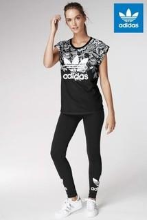 Black adidas Originals Black Trefoil Legging