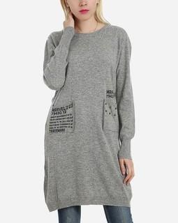Goelia Front Pockets Pullover - Grey