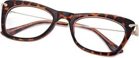 Fashion Simple Girls Cat Design Lightness Metal Leg Myopia Glasses(C4)