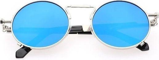Fashion Women's Sunglasses Punk Round Frog Mirror Blue Mercury
