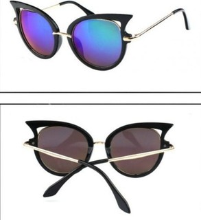 Other Sunglasses from the plastics and metal cat eye style black with lenses color Blue Mirror 593 - 10