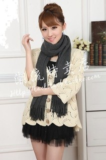 Women scarf from Cashmere pashmina gray color Item No 240 - 10