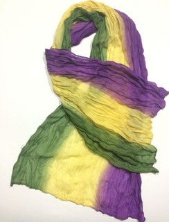 scarf cotton Chiffon Wrinkled color purple in a yellow in dark green item No 252-65
