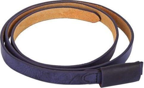 Fashion Stylish Pure Color Leather Belt - Deep Blue