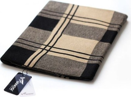 VIANOSI Multi Color Wool Oblong Scarf For Men