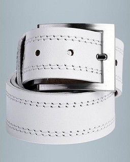 Rolf Boehmer Casual Stitched Multi-Color Loops Belt - White