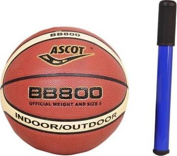 Pro Hanson BB800 - Basketball Ascot - Size 5 + Air Pump