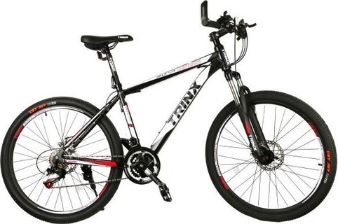 Bicycle Sport By Trinx, Black with Red, Size 26