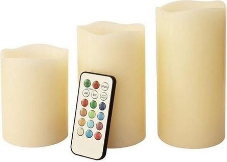 Generic LED Scented Flameless Candles Set with RC - 3 Pcs