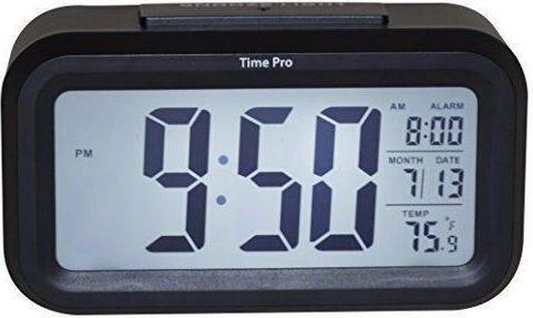 Time Pro Alarm clock luminous led electronic clock large screen-Black