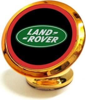 Golden Magnetic Car Mount Holder with Land Rover Logo