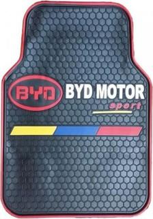 Universal Original Car Floor Mats - 5 Pcs - Black - BYD