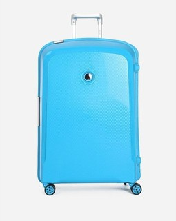 Delsey Textured Cabin Trolley Bag - 112 L - Turquoise